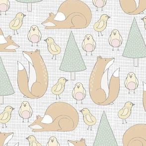 Baby Kids Forest Animals