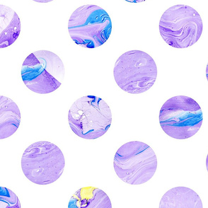 Watercolor violet planets