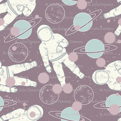 Space Cosmonaut and Planet