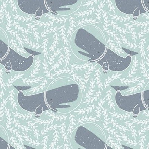 Kids Sea Whale and Floral