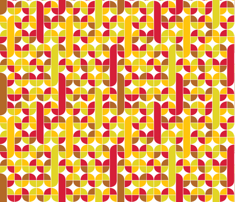 Just_around_the_corner_Flowering Earth fabric by alchemiedesign on Spoonflower - custom fabric