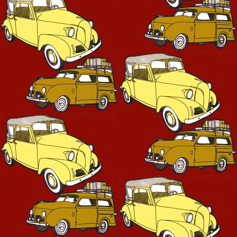 1939- 1948 Crosley mini cars fabric by edsel2084 on Spoonflower - custom fabric
