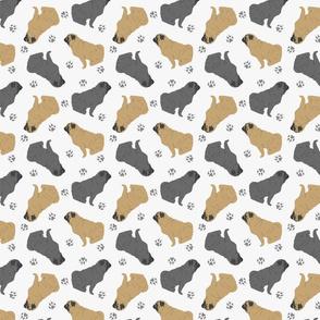 Tiny Pugs - gray