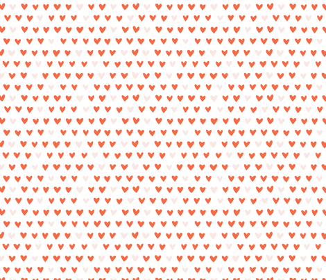 Red Hearts fabric by anetteheiberg on Spoonflower - custom fabric