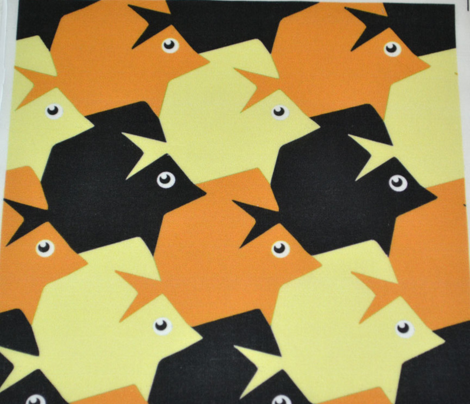 Tropical Tessellating Fish Halloween