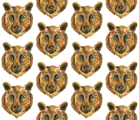 Bear Face - Medium fabric by taraput on Spoonflower - custom fabric