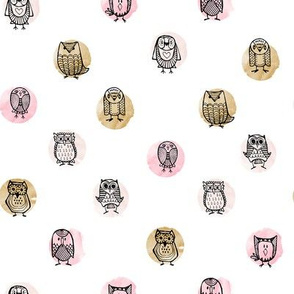 Owls on Water // Rose Gold