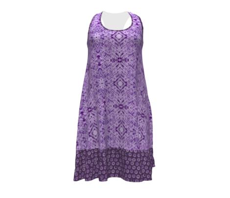 Shibori Purple Tie Dye Tonal Blender