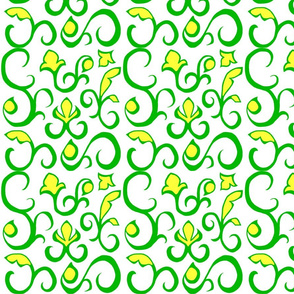 Flower Scroll Pattern