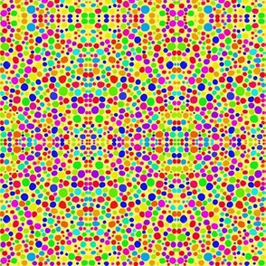 Rainbow Dots Mosaic on Sunny Yellow