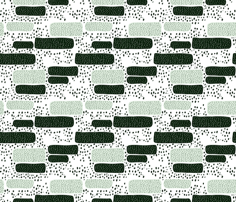 Geometric abstract dots and stripes colorful memphis style design mint black and white fabric by littlesmilemakers on Spoonflower - custom fabric