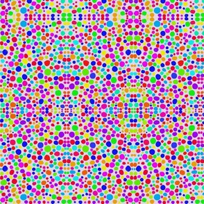 Rainbow Dots Mosaic on Lilac