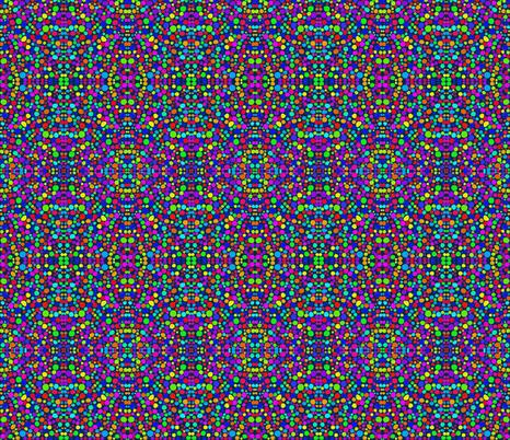 Rainbow Dots Mosaic on Indigo - Small Scale fabric by rhondadesigns on Spoonflower - custom fabric