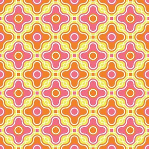 Fancy Retro Quatrefoil - Bright