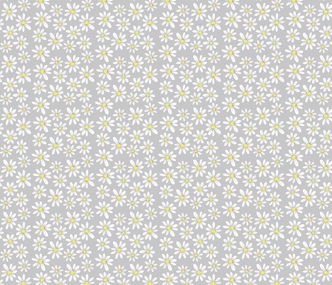 daisies fabric by swoldham on Spoonflower - custom fabric