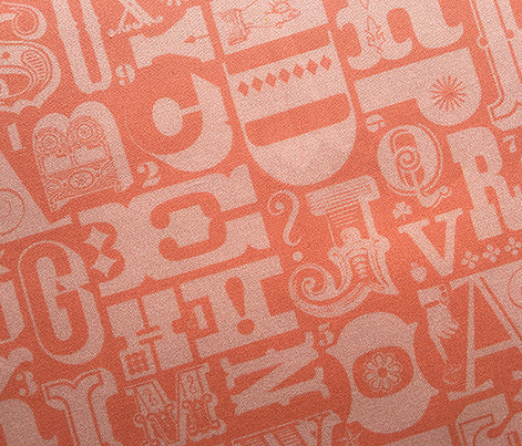 Woodtype Alphabet* (Space Fruit) || letterpress typography wood type letters numbers vintage western ornaments monotone pastel