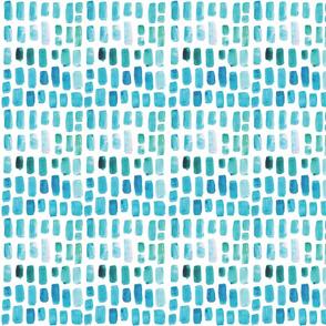 Aquamarine Watercolor Mosaic // Small