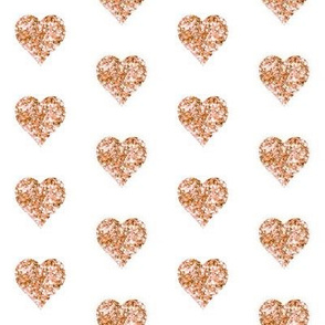 Rose Gold Glitter Mini Hearts
