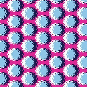 Glenview* (Pink Riot) || doily doilies circles polka dots shadow moon flowers geometric abstract