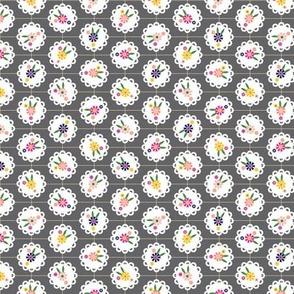 Wedgewood* (Pepper Pot) || flowers flower floral doily doilies vintage shabby chic garden lattice polka dots nature leaves garden