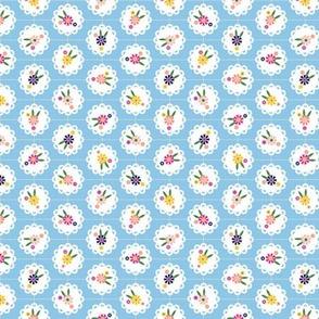 Wedgewood* (Popeye) || flowers flower floral doily doilies vintage shabby chic garden lattice polka dots nature leaves garden