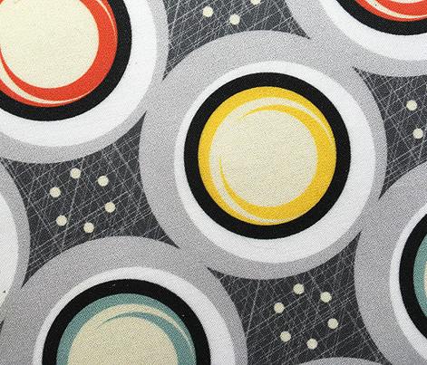 Large Hatch Dots* (Revisited) || midcentury modern polka dots texture circles abstract geometric atomic texture upholstery