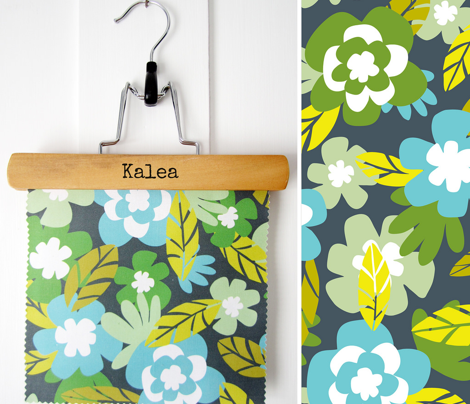 Kalea - Tropical Floral Blue Aqua Green