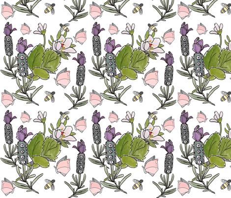 Garden Inspired fabric by anneward on Spoonflower - custom fabric