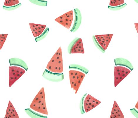 dilly dalian watermelon bites fabric by dillydalian on Spoonflower - custom fabric