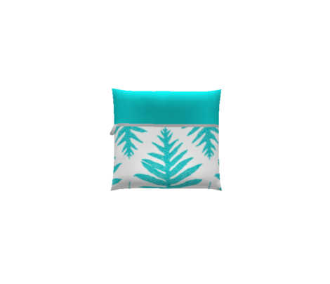 Turquoise Fern Array on White 150