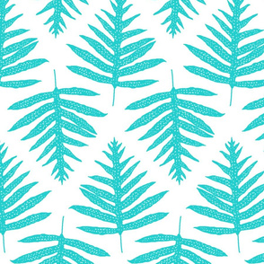 Fern Array Turquoise Dark