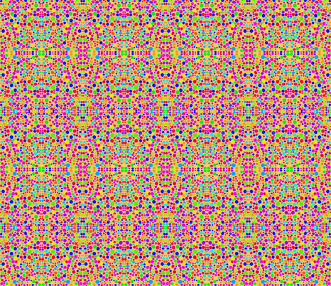 Rainbow Dots Mosaic on Dusky Apricot fabric by rhondadesigns on Spoonflower - custom fabric