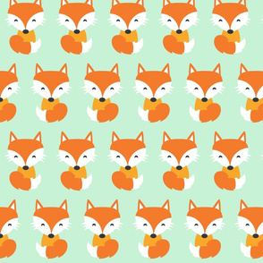 Red Fox Mint Green
