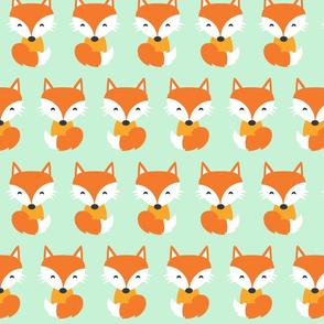 Red Fox Mint Green