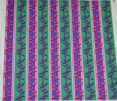 Leafy Stripe Purple and Green