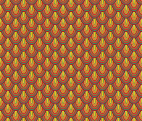 Lava Quetzal fabric by samalah on Spoonflower - custom fabric
