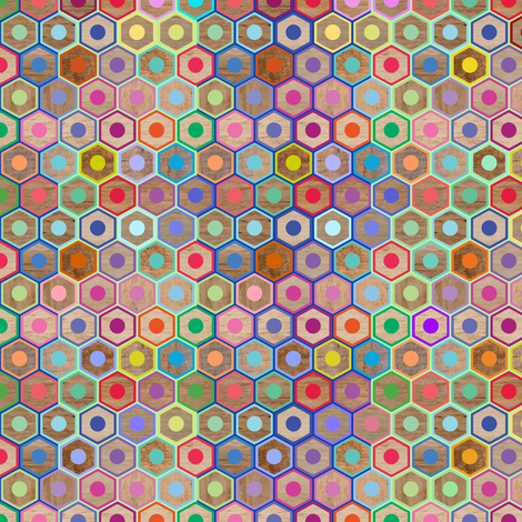 Colored Pencils Small fabric by rubydoor on Spoonflower - custom fabric