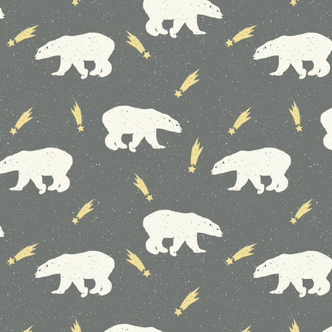 Winter Bear in Night fabric by julia_dreams on Spoonflower - custom fabric