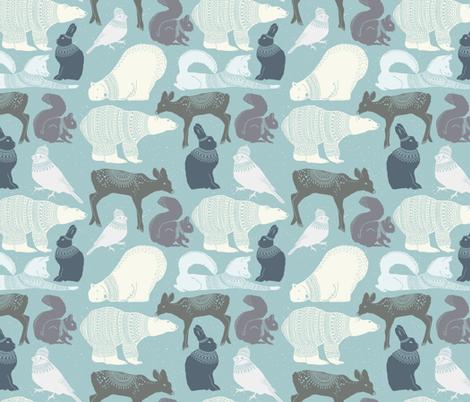Winter Animals fabric by julia_dreams on Spoonflower - custom fabric