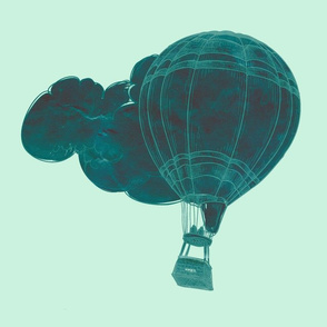 Stormy Air Balloons Mint