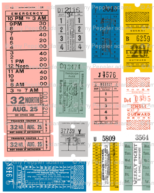 Ticket to Ride* {Revisited} || vintage ephemera bus train subway tickets uk Europe London British
