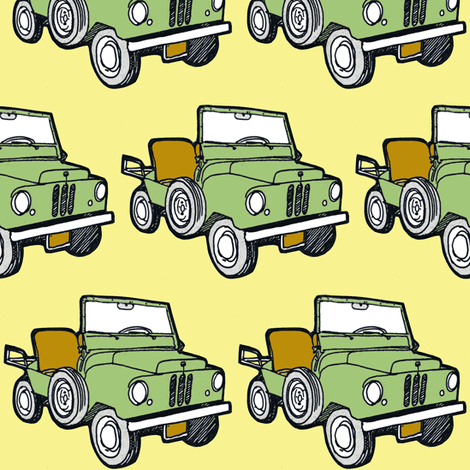 Nifty Fifties 1950-1952 Crosley Farm O Road mini truck fabric by edsel2084 on Spoonflower - custom fabric