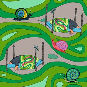 Groovy green tunnels w snails: dream mole