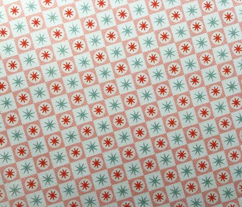 Spiffy* (Mona)    midcentury modern atomic stars starburst check checkerboard geometric picnic diner