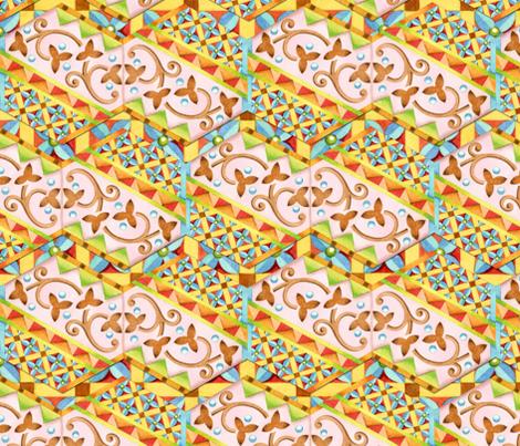 Pink Bonbon Hexagons fabric by patriciasheadesigns on Spoonflower - custom fabric