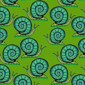 Snail [Green guy] in asparagus