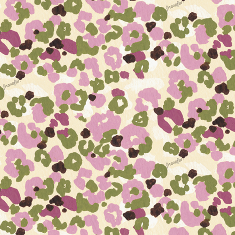 Flower  Camouflage -pink- fabric by frumafar on Spoonflower - custom fabric