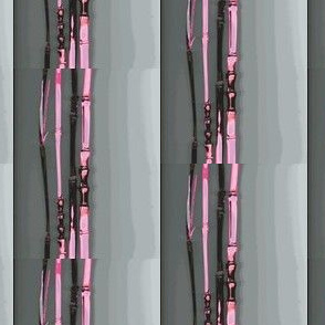 pink bamboo stripes