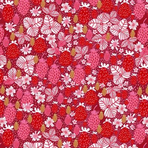 Strawberry Field Floral - SMALL
