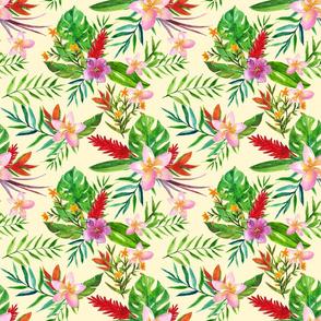 Tropical flowers Cream